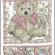 DMC K4111 Bear Birth Sampler